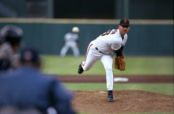 18 Jun 1998:   Mark Gardner #26 of the San Francisco Giants in action during a game against the San Diego Padres at 3Com Park in San Francisco, California. The Padres defeated the Giants 7-6. Mandatory Credit: Otto Greule Jr.  /Allsport