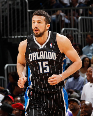 ATLANTA, GA - APRIL 28:  Hedo Turkoglu #15 of the Orlando Magic against the Atlanta Hawks during Game Six of the Eastern Conference Quarterfinals in the 2011 NBA Playoffs at Philips Arena on April 28, 2011 in Atlanta, Georgia.  NOTE TO USER: User expressl