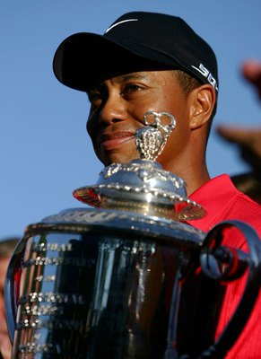 Tiger Woods after winning the 2006 PGA Championship