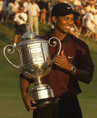 Tiger Woods after winning the 2000 PGA Championship