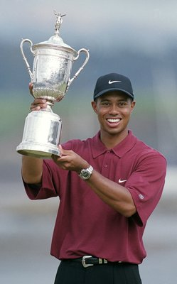 Tiger Woods after winning the 2000 U.S. Open Championship