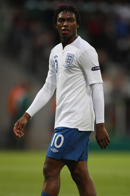 VIBORG, DENMARK - JUNE 19:  Daniel Sturridge of England during the UEFA European Under-21 Championship Group B match between England and Czech Republic at the Viborg Stadium on June 19, 2011 in Viborg, Denmark.  (Photo by Michael Steele/Getty Images)