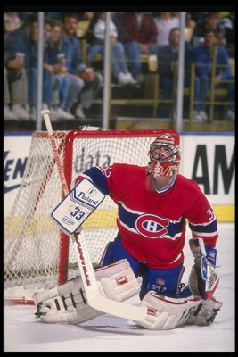 1989-1990:  Goaltender Patrick Roy of the Montreal Canadiens. Mandatory Credit: Ken Levine  /Allsport