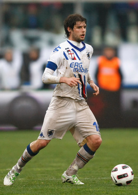 CATANIA, ITALY - MARCH 13:  Andrea Poli of Sampdoria during the Serie A match between Catania Calcio and UC Sampdoria at Stadio Angelo Massimino on March 13, 2011 in Catania, Italy.  (Photo by Maurizio Lagana/Getty Images)