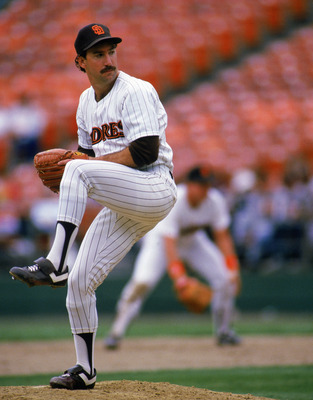 1986 - Eric Show #30 of the San Diego Padres pitches during a game at Jack Murphy Stadium in San Deigo, California. (Photo by: Rick Stewart/Getty Images)