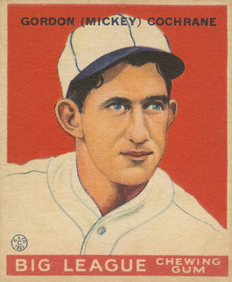 Certainly one of the top 5 catchers of all time, Mickey Cochrane.