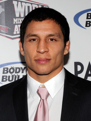 LAS VEGAS, NV - DECEMBER 01:  Mixed martial artist Joseph Benavidez arrives at the third annual Fighters Only World Mixed Martial Arts Awards 2010 at the Palms Casino Resort December 1, 2010 in Las Vegas, Nevada.  (Photo by Ethan Miller/Getty Images)