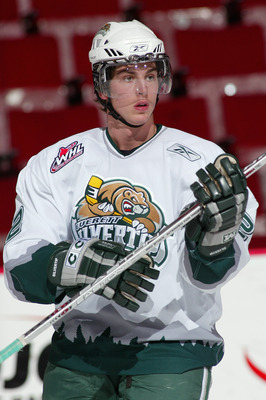 VANCOUVER, CANADA - OCTOBER 28:  Jason Fransoo #2 of the Everett Silvertips warms up prior to their WHL game against the Vancouver Giants on October 28, 2005 at Pacific Colisseum in Vancouver, British Colombia, Canada.  The Silvertips defeated the Giants