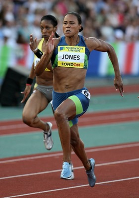FILE:  Marion Jones of the USA in the Women's 100 metres during the Norwich Union London Grand Prix at Crystal Palace July 28, 2006 in London, England.  According to media reports on October 6, 2007 Former track star Marion Jones admits her steroid use. A