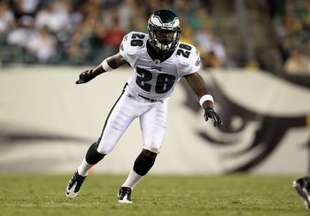 PHILADELPHIA, PA - AUGUST 11:  Jaiquawn Jarrett #26 of the Philadelphia Eagles in action against the Baltimore Ravens during their pre season game on August 11, 2011 at Lincoln Financial Field in Philadelphia, Pennsylvania.  (Photo by Jim McIsaac/Getty Im