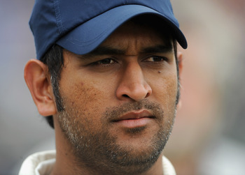 BIRMINGHAM, ENGLAND - AUGUST 13:  Indian captain MS Dhoni after losing the 3rd npower test between England and India at Edgbaston on August 13, 2011 in Birmingham, England.  (Photo by Gareth Copley/Getty Images)