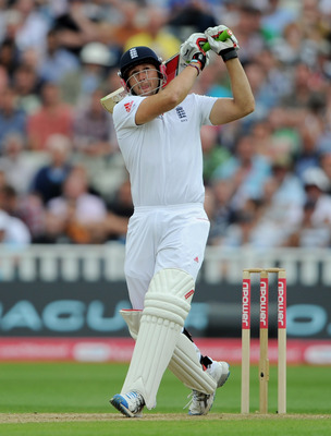 BIRMINGHAM, ENGLAND - AUGUST 12:  Tim Bresnan of England bats during day three of the 3rd npower Test at Edgbaston on August 12, 2011 in Birmingham, England.  (Photo by Gareth Copley/Getty Images)