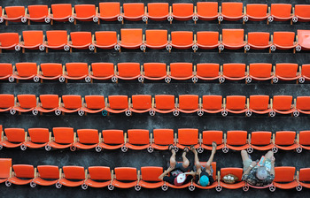 MIAMI GARDENS, FL - JULY 20:  Fans await the start of a game between the Florida Marlins and the San Diego Padres at Sun Life Stadium on July 20, 2011 in Miami Gardens, Florida.  (Photo by Sarah Glenn/Getty Images)