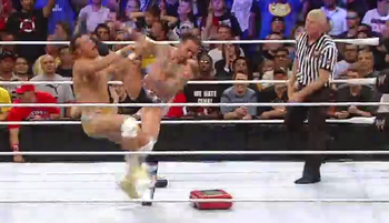 CM Punk does his best Mirko Cro Cop impression (Via WWE)
