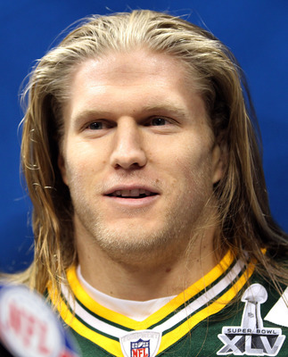 ARLINGTON, TX - FEBRUARY 01:  Clay Matthews #52 of the Green Bay Packers addresses the media during Super Bowl XLV Media Day ahead of Super Bowl XLV at Cowboys Stadium on February 1, 2011 in Arlington, Texas. The Pittsburgh Steelers will play the Green Ba