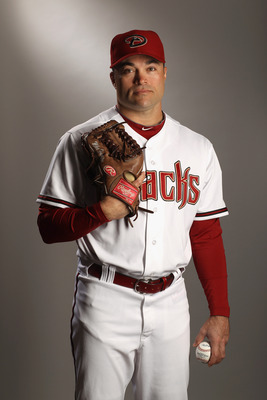 SCOTTSDALE, AZ - FEBRUARY 21:  Mike Hampton #21 of the Arizona Diamondbacks poses for a portrait at Salt River Fields at Talking Stick on February 21, 2011 in Scottsdale, Arizona.  (Photo by Ezra Shaw/Getty Images)
