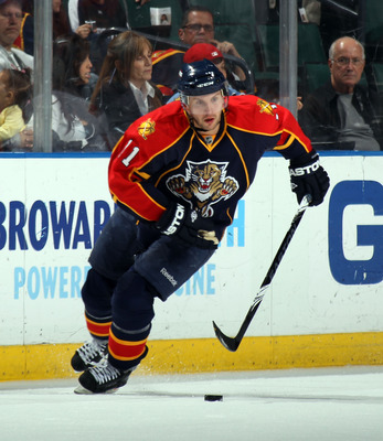 SUNRISE, FL - MARCH 10:  Niclas Bergfors #11 of the Florida Panthers skates against the Ottawa Senators at the BankAtlantic Center on March 10, 2011 in Sunrise, Florida.  (Photo by Bruce Bennett/Getty Images)