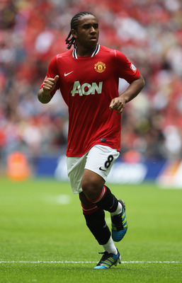 LONDON, ENGLAND - AUGUST 07:  Anderson of Manchester United in action during the FA Community Shield match sponsored by McDonald's between Manchester City and Manchester United at Wembley Stadium on August 7, 2011 in London, England.  (Photo by Clive Rose