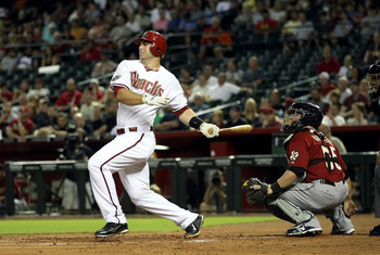 PHOENIX, AZ - AUGUST 09:  Paul Goldschmidt #44 of the Arizona Diamondbacks bats against the Houston Astros during the Major League Baseball game at Chase Field on August 9, 2011 in Phoenix, Arizona. The Diamondbacks defeated the Astros 11-9.  (Photo by Ch