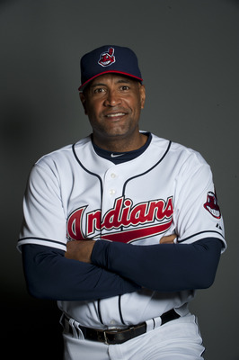 GOODYEAR, AZ - FEBRUARY 22: Sandy Alomar Jr. coach f the Cleveland Indians poses during their photo day at the Cleveland Indians Spring Training Complex on February 22, 2011 in Goodyear, Arizona. (Photo by Rob Tringali/Getty Images)