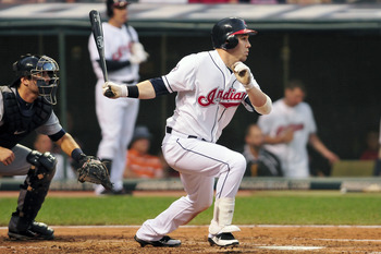 CLEVELAND, OH - AUGUST 10: Jason Kipnis #22 of the Cleveland Indians hits an RBI double against the Detroit Tigers during the fourth inning at Progressive Field on August 10, 2011 in Cleveland, Ohio. (Photo by Jason Miller/Getty Images)