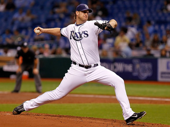 ST PETERSBURG, FL - AUGUST 05:  :  Pitcher Jeff Niemann #34 of the Tampa Bay Rays pitches against the Oakland Athletics during the game at Tropicana Field on August 5, 2011 in St. Petersburg, Florida.  (Photo by J. Meric/Getty Images)