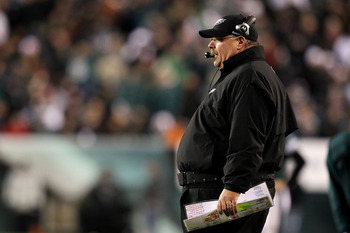 PHILADELPHIA, PA - DECEMBER 02:  Head coach Andy Reid of the Philadelphia Eagles looks on against the Houston Texans at Lincoln Financial Field on December 2, 2010 in Philadelphia, Pennsylvania.  (Photo by Al Bello/Getty Images)