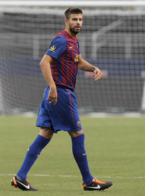 ARLINGTON, TX - AUGUST 06:  Gerard Pique #3 of FC Barcelona at Cowboys Stadium on August 6, 2011 in Arlington, Texas.  (Photo by Ronald Martinez/Getty Images)