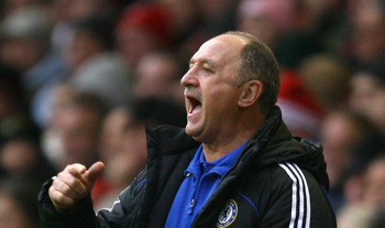 LIVERPOOL, UNITED KINGDOM - FEBRUARY 01:  Chelsea Manager Luis Felipe Scolari shouts to his players during the Barclays Premier League match between Liverpool and Chelsea at Anfield on February 1, 2009 in Liverpool, England.  (Photo by Alex Livesey/Getty