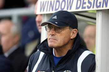 NORTHAMPTON, ENGLAND - NOVEMBER 21:  Crewe Alexandra manager Dario Gradi looks on during the Coca Cola League Two Match between Northampton Town and Crewe Alexandra at Sixfields Stadium on November 21, 2009 in Northampton, England. (Photo by Pete Norton/G