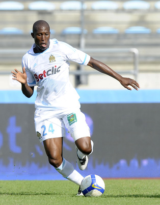 BAYONNE, FRANCE - JULY 23:  Rod Fanni of Olympique Marseille in action during a pre-season friendly match between Olympique Marseille and Udinese on July 23, 2011 in Bayonne, France.  (Photo by Ander Gillenea/Getty Images)