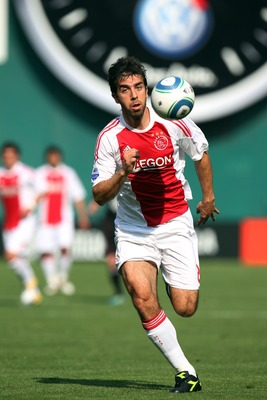 WASHINGTON, DC - MAY 22: Oleguer #23 of Ajax controls the ball against D.C. United at RFK Stadium on May 22, 2011 in Washington, DC. Ajax won 2-1. (Photo by Ned Dishman/Getty Images)