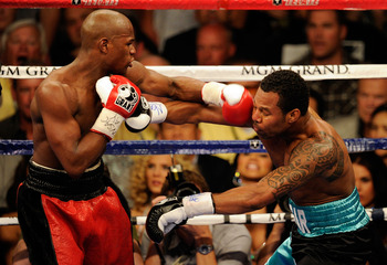 Floyd Mayweather Jr. during his fight against Shane Mosley in May 2010.