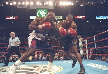 A fight for the ages. Evander Holyfield again Mike Tyson in 1997.