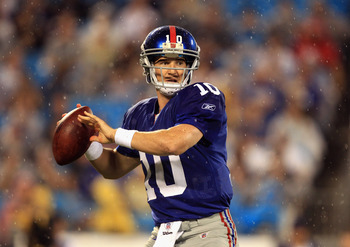 charlotte nc august 13 eli manning 10 of the new york giants
