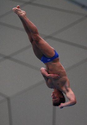 SHANGHAI, CHINA - JULY 24:  Thomas Daley of Great Britain competes during the Men's 10m Platform Final during Day Nine of the 14th FINA World Championships at the Oriental Sports Center on July 24, 2011 in Shanghai, China.  (Photo by Clive Rose/Getty Imag