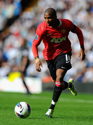 WEST BROMWICH, ENGLAND - AUGUST 14:  Ashley Young of Manchester United in action during the Barclays Premier League match between West Bromwich Albion and Manchester United at The Hawthorns on August 14, 2011 in West Bromwich, England.  (Photo by Mike Hew