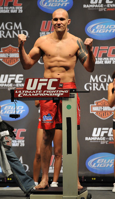 LAS VEGAS - MAY 28:  UFC fighter Luiz Cane  weighs in for his fight against UFC fighter Cyrille Diabate at UFC 114: Rampage versus Rashad at the Mandalay Bay Hotel on May 28, 2010 in Las Vegas, Nevada.  (Photo by Jon Kopaloff/Getty Images)