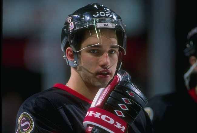 1993-1994:  Center Alexandre Daigle of the Ottawa Senators. Mandatory Credit: Robert Laberge  /Allsport