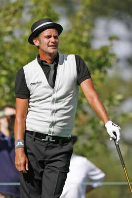 UNITED STATES - AUGUST 24:  Jesper Parnevik during the first round of the Reno Tahoe Open held at Montreux Golf and Country Club in Reno, Nevada, on August 24, 2006.  (Photo by S. Badz/Getty Images)