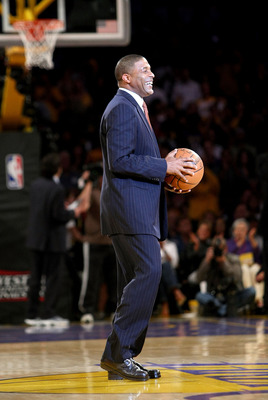 LOS ANGELES, CA - MAY 21:  Los Angeles Lakers legend Norm Nixon brings out the game ball before the game between the Lakers and the San Antonio Spurs of the Los Angeles Lakers in Game One of the Western Conference Finals during the 2008 NBA Playoffs on Ma