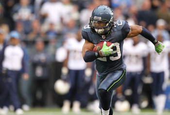 SEATTLE - SEPTEMBER 26:  Earl Thomas #29 of the Seattle Seahawks returns an interception against the San Diego Chargers at Qwest Field on September 26, 2010 in Seattle, Washington. The Seahawks defeated the Chargers 27-20. (Photo by Otto Greule Jr/Getty I