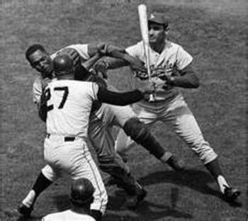 The Marichal Roseboro incident was an ugly scene