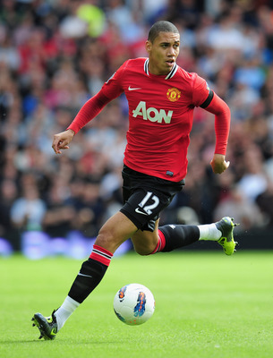 WEST BROMWICH, ENGLAND - AUGUST 14:  Chris Smalling of Manchester United in action during the Barclays Premier League match between West Bromwich Albion and Manchester United at The Hawthorns on August 14, 2011 in West Bromwich, England.  (Photo by Shaun