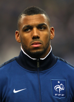 PARIS, FRANCE - FEBRUARY 09:  Yann M'Vila of France lines up prior to the International friendly match between France and Brazil at Stade de France on February 9, 2011 in Paris, France.  (Photo by Alex Livesey/Getty Images)