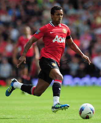 WEST BROMWICH, ENGLAND - AUGUST 14:  Nani of Manchester United in action during the Barclays Premier League match between West Bromwich Albion and Manchester United at The Hawthorns on August 14, 2011 in West Bromwich, England.  (Photo by Shaun Botterill/