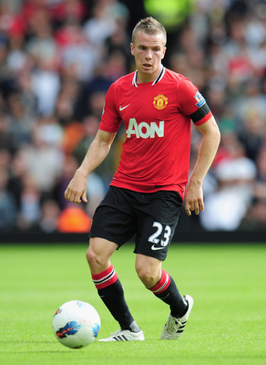 WEST BROMWICH, ENGLAND - AUGUST 14:  Tom Cleverley of Manchester United in action during the Barclays Premier League match between West Bromwich Albion and Manchester United at The Hawthorns on August 14, 2011 in West Bromwich, England.  (Photo by Shaun B