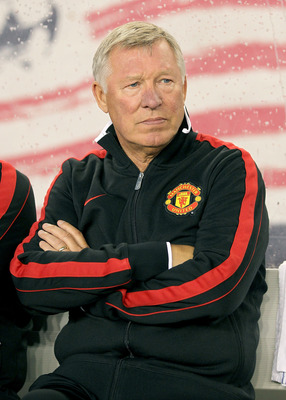 FOXBORO, MA - JULY 13:  Sir Alex Ferguson of Manchester United watches the action against the New England Revolution during a friendly match at Gillette Stadium on July 13, 2011 in Foxboro, Massachusetts. (Photo by Jim Rogash/Getty Images)