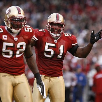 Takeo Spikes' play in San Francisco was constantly overshadowed by all-pro Patrick Willis