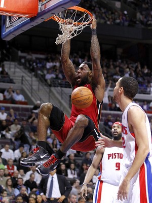 AUBURN HILLS, MI - MARCH 23: LeBron James #6 of the Miami Heat gets in for a dunk between Tayshaun Prince #22 and Chris Wilcox #9 of the Detroit Pistons at The Palace of Auburn Hills on March 23, 2011 in Auburn Hills, Michigan. NOTE TO USER: User expressl
